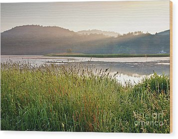 Wood Print featuring the photograph Quechee Sunrise by Susan Cole Kelly