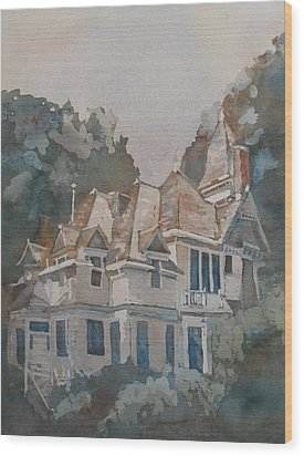 Queen Anne Nods To Shirley Jackson Wood Print by Jenny Armitage