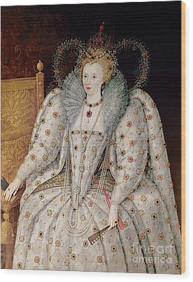Queen Elizabeth I Of England And Ireland Wood Print by Anonymous