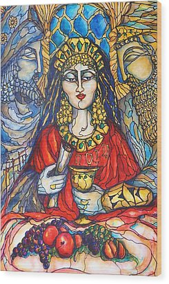 Queen Esther Wood Print