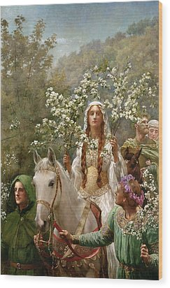 Queen Guinevere Wood Print by John Collier