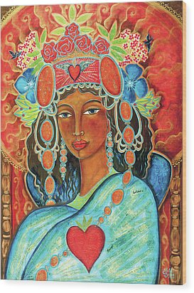 Queen Of Her Own Heart Wood Print by Shiloh Sophia McCloud