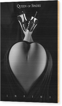 Wood Print featuring the photograph Queen Of Spades by Dario Infini