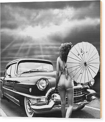 Queen Of The Highway 2 Wood Print by Larry Butterworth