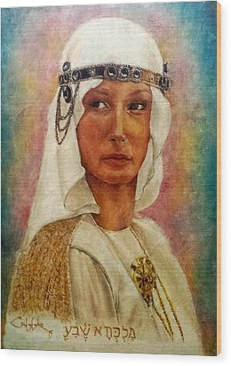 Queen Sheba  Wood Print