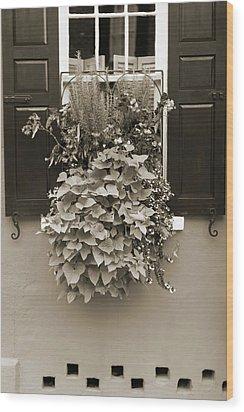 Queen Street Flowers Charleston Sc Wood Print by Dustin K Ryan