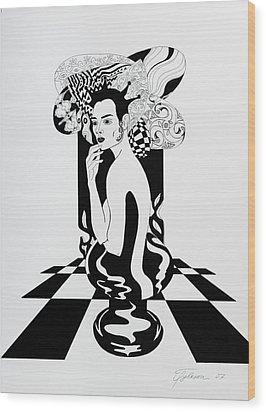 Queen Wood Print by Yelena Tylkina