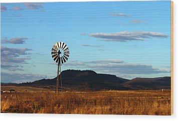Queensland Windmill Wood Print by Susan Vineyard