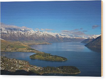 Queenstown Panoramic Wood Print