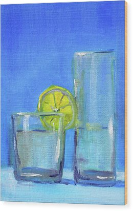 Wood Print featuring the painting Quench by Nancy Merkle