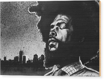 Questlove. Wood Print by Darryl Matthews