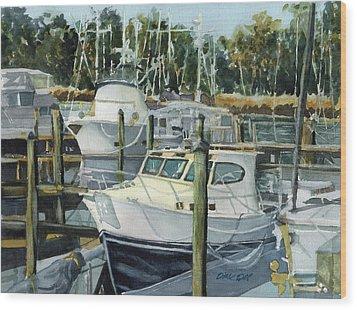Quiet Marina Wood Print