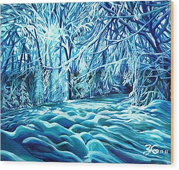 Quiet Of Winter Wood Print by Suzanne King