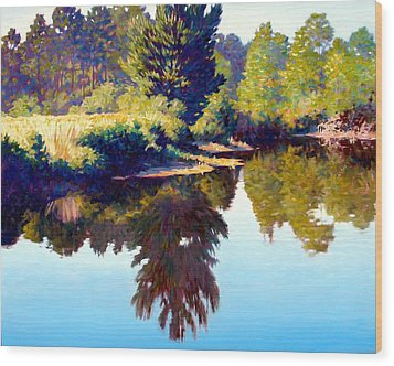 Quiet Pond Wood Print by Kevin Lawrence Leveque