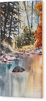 Quiet Reflections Wood Print by Carolyn Rosenberger