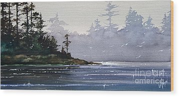 Quiet Shore Wood Print by James Williamson