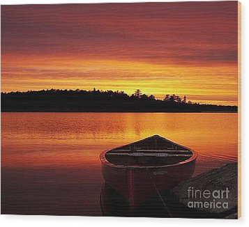 Quiet Sunset Wood Print by Rod Jellison