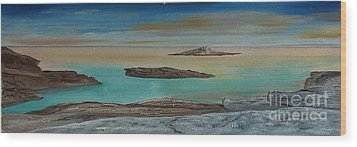 Wood Print featuring the painting Quiet Tropical Waters by Rod Jellison