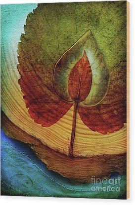 Quiet Waters Wood Print by Shevon Johnson
