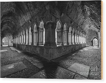 Wood Print featuring the photograph Quin Abbey by Dennis Hedberg