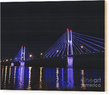 Quincy Bay View Light Reflection Wood Print
