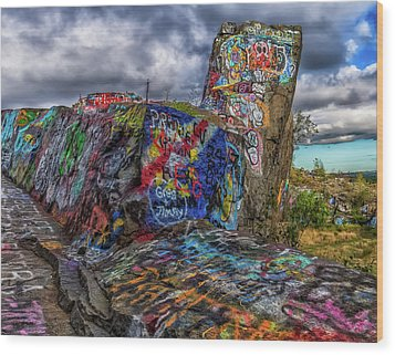 Quincy Quarries Graffiti Wood Print by Brian MacLean