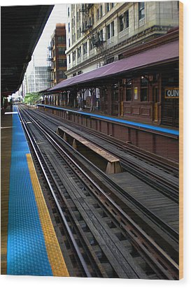 Wood Print featuring the photograph Quincy Train Station  by Joanne Coyle