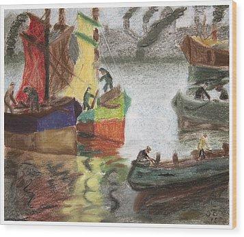 La Boca Caminito Wood Print