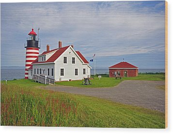 Quoddy Head Lighthouse Wood Print