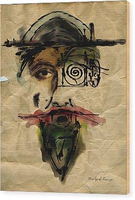 Quoijote 002 Wood Print by Rafael Gaya