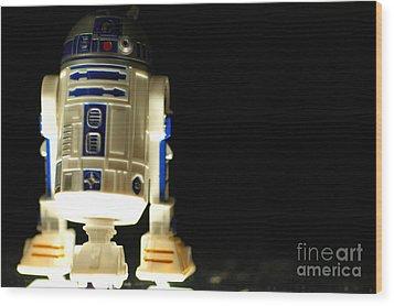 R2-d2 Wood Print by Micah May