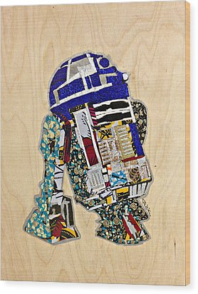 R2-d2 Star Wars Afrofuturist Collection Wood Print