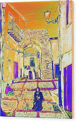 Wood Print featuring the painting Rabato  by Loredana Messina
