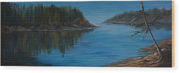 Rabbit Blanket Lake Wood Print by Joanne Smoley