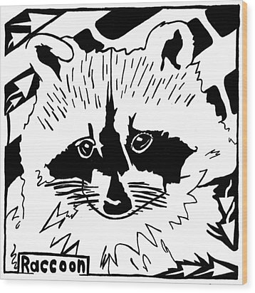 Raccoon Maze Wood Print by Yonatan Frimer Maze Artist