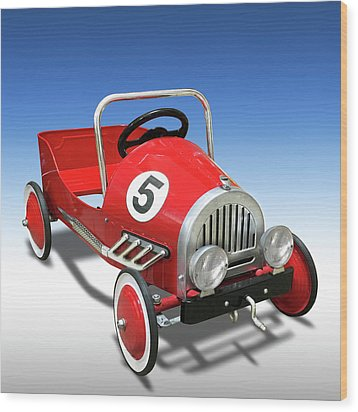 Wood Print featuring the photograph Race Car Peddle Car by Mike McGlothlen