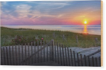 Wood Print featuring the photograph Race Point Sunset 2015 by Bill Wakeley
