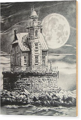 Race Rock Light House Wood Print by Michael Lee Summers