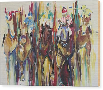Race Track Wood Print by Heather Roddy