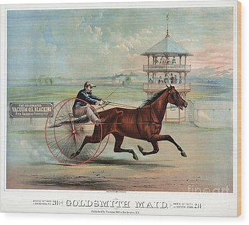 Racehorse: Goldsmith Maid Wood Print by Granger