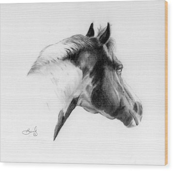 Racer Wood Print by Beverly Johnson