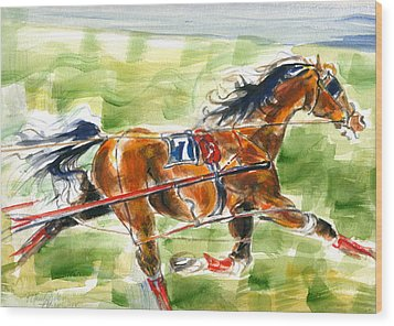 Racer Wood Print by Mary Armstrong