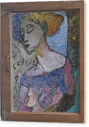 Rachel In Reverse Wood Print
