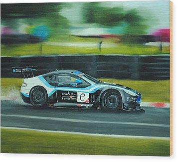 Racing Car Wood Print by Nolan Clark