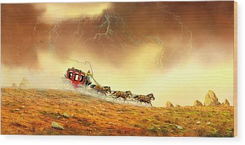 Racing The Storm Wood Print by Don Griffiths