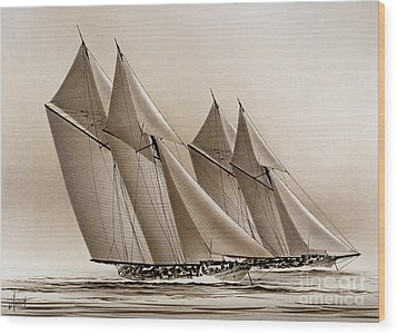 Racing Yachts Wood Print