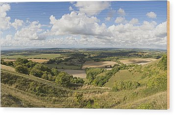 Rackham Hill To The North Downs Wood Print by Hazy Apple