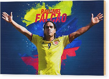 Radamel Falcao Wood Print by Semih Yurdabak