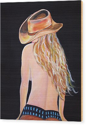 Radiant Cowgirl  Wood Print by Jennifer Godshalk