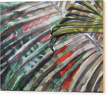 Radiant Palms Wood Print by Mindy Newman
